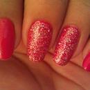 red, glitter