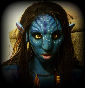 "Avatar's ""Netyiri Look"" ..First time applying a prosthetic..this look was a lot of fun to do ;D"