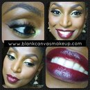 Foiled Eyes & Deep Red Lips
