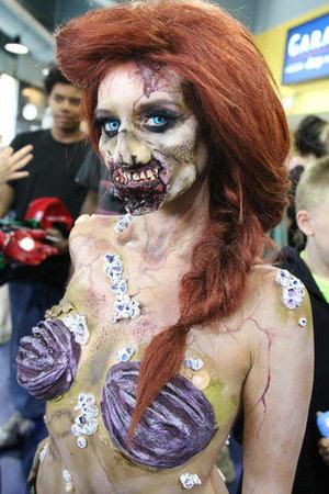 Zombie Ariel  Comiconn 2014  Photo credit: Alex Syphers  Model: She_loves_fx @Julia Williams #makeup #fxmakeup #halloween #zombie #disney #disneyprincess #princess #ariel #halloween #cosplay #costume