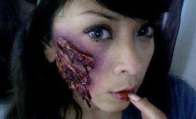 DIY Scar Makeup tutorial for halloween!