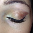 Fall shadows and winged liner