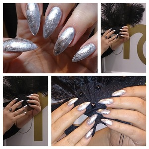 CND Brisa gel With CND Shellac and foil