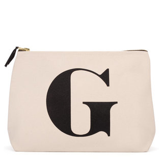 Natural Wash Bag Letter G