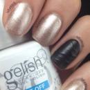 Gelish Black And Gold Holiday Nails