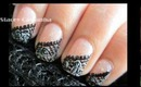 Lace Nail Design tutorial. =)