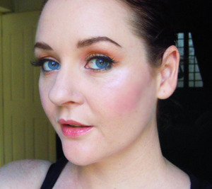 To see a list of products I used for this look, go to http://thefairyness.blogspot.sg/2012/05/coral-bronze-gold.html