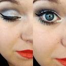 Orange lip silver eyes