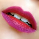 Fall Purple and Red Ombre lips