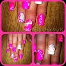 princess pink & white