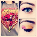 the flash comic look