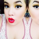 Chrome Yellow and Red Lips