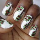 Dotted Apple Trees Nail Art