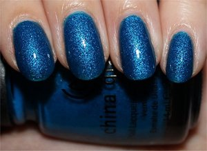 See more swatches & my review here: http://www.swatchandlearn.com/china-glaze-blue-sparrow-swatches-review-revisited/