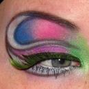 Colorful Clown Eye