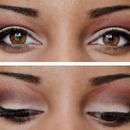 White and Red Eye Makeup