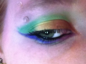 Used all of the eye shadows from The Core collection but Hope to create a fun rainbow look.