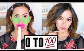 0 TO 100 Makeup And Hair Tutorial Using Cheap Drugstore Makeup