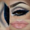 Blue bold eyeliner