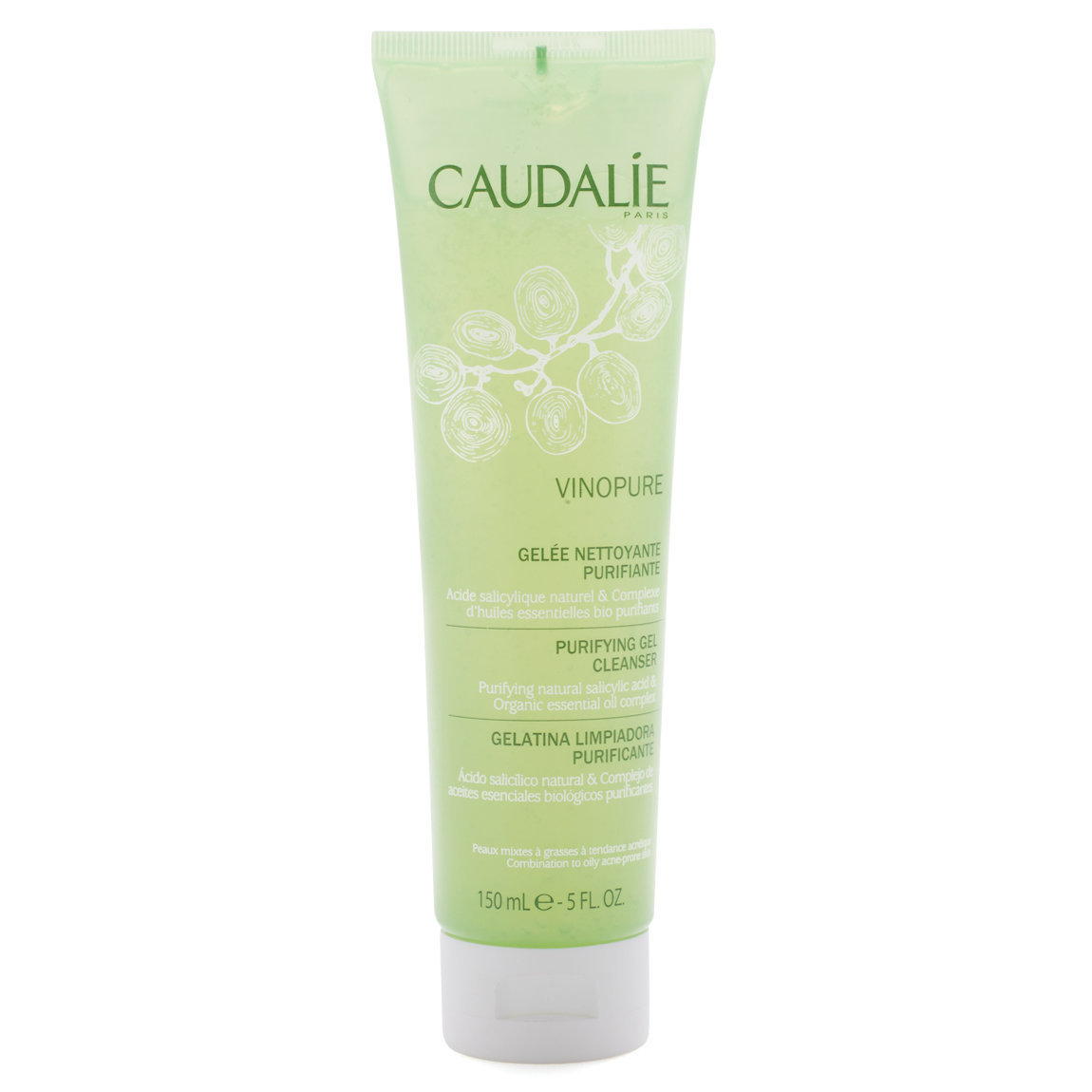 Caudalie Vinopure Cleansing Gel product smear.