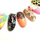 Swirls & Confetti Nail Art