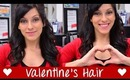 Valentine's Day Hair - Half Up with Loose Curls & Bump (Curling Wand) | Instant Beauty ♡