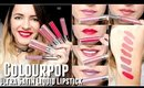 ColourPop Ultra SATIN Liquid Lipsticks SWATCHES & GIVEAWAY | Colourpop Cosmetics Review