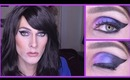 Drag Queen Intense Purple Cat Eye Tutorial