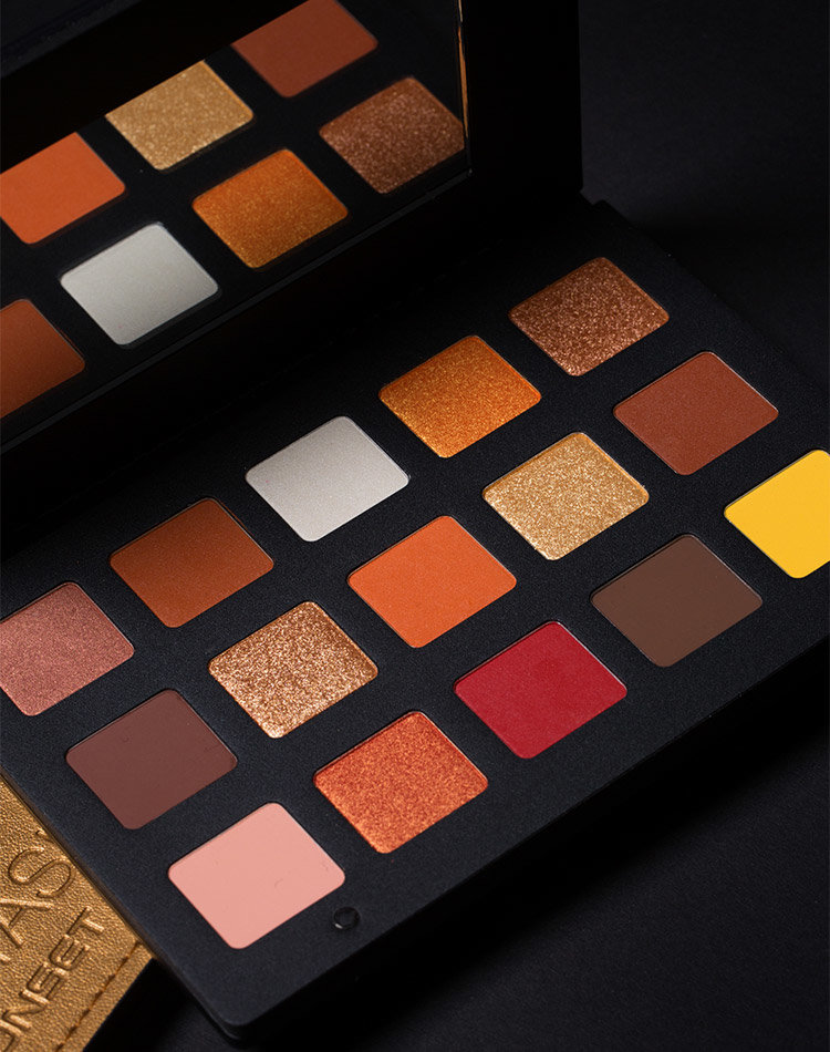 Alternate product image for Sunset Palette shown with the description.