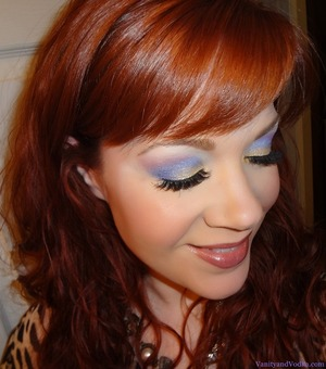 """Makeup look using Nyx Cosmetics Palette """"Team Spirit"""". For more info, please visit: http://www.vanityandvodka.com/2013/01/team-spirit.html  Have a great day! xoxo, Colleen"""