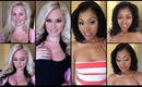 18 PORN STARS WITH AND WITHOUT MAKEUP!