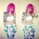 pink hair  bob