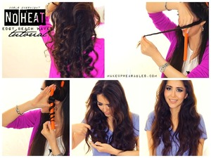 Learn how to do this hairstyle here. http://www.makeupwearables.com/2013/11/selena-gomez-no-heat-curls-hair-tutorial.html