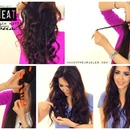 No-Heat Selena Gomez Curls Tutorial Video | Heatless Beach Waves Hairstyle