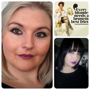 Makeup tribute I did for my dear friend Pam M :) I did a look inspired by her signature look with dark eyes and purple lips :)