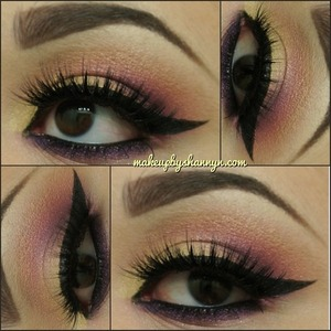 A look created using Urban Decay's Vice Palette. Lashes are House of Lashes in Noir Fairy.