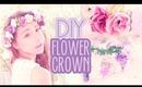 DIY Flower Crown Hair Accessory - Make your own custom springtime hair accessory