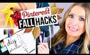 PINTEREST HACKS... TESTED! #5 || Fall DIY Edition!
