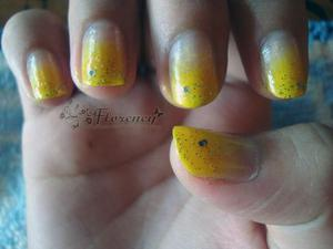 Gradient yellow...sooooo excited to doing this! And its done! Love it! ♥