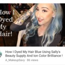 How to dye blue hair