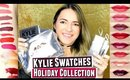 Kylie Holiday Collection SWATCHES & GIVEAWAY | Kylie Holiday Lip Kits, Holiday Kyshadow, Vixen