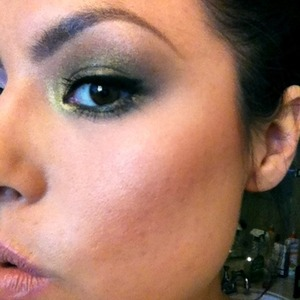 Bronzy Gold demo look for Sweet Sin Couture photo shoot