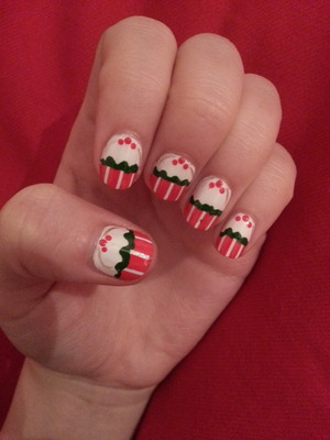 Christmas nails for the festive season :) inspired by MissJenFabulous on YouTube
