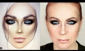 @MILK1422 FACECHART INSPIRED SMOKEY MAKEUP TUTORIAL