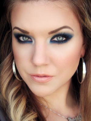 "Blue smokey eye using BFTE's ""Spellbound"""