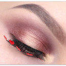 Valentine's Day Makeup Tutorial Heart Eyelashes