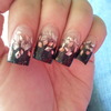 Black Tips With Pink Mylar Fade