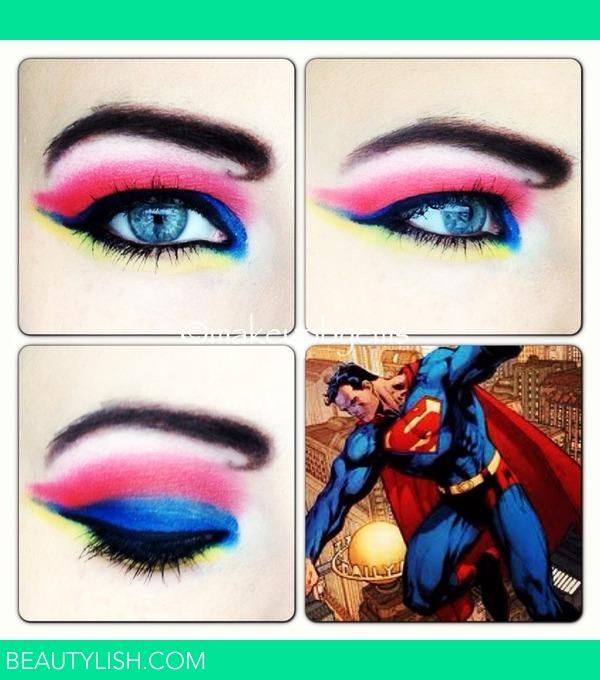 Superman Comic Makeup Look Emma B S Photo Beautylish