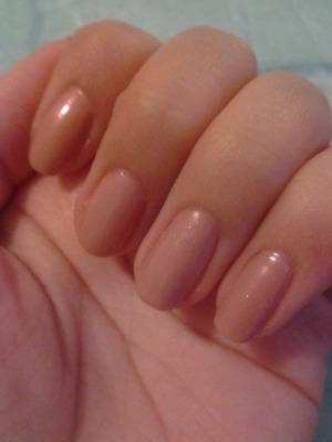 my long nails with nude polish L.A color nail polish