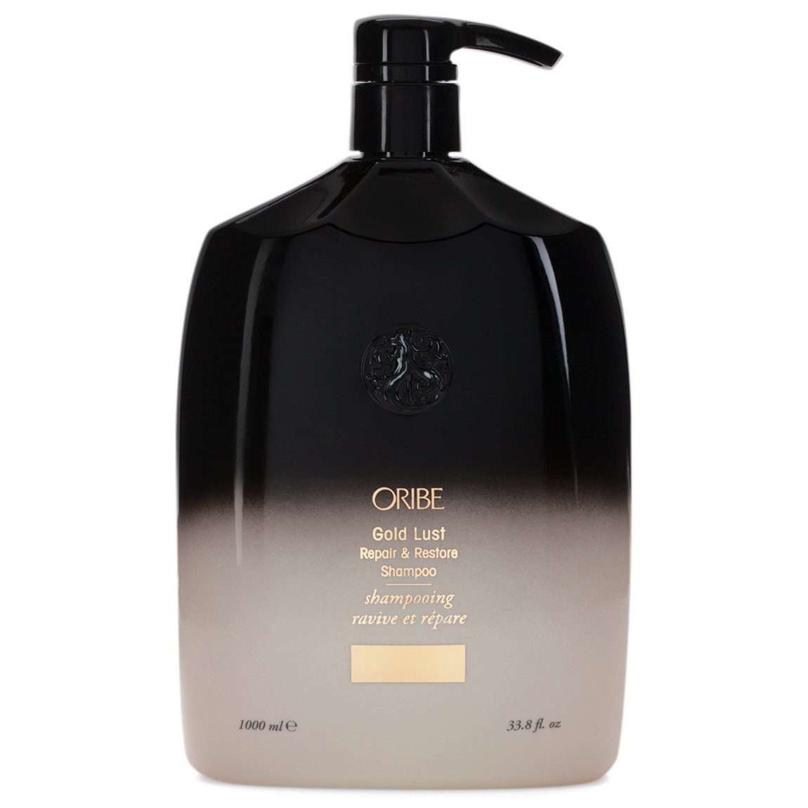 Oribe Gold Lust Repair & Restore Shampoo 1 L product swatch.